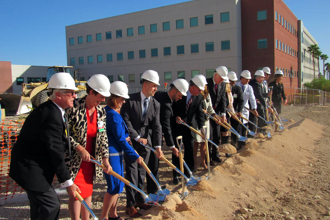 Officials break ground Oct. 17 on a $98 million, five-story patient tower at Centennial Hills H ...