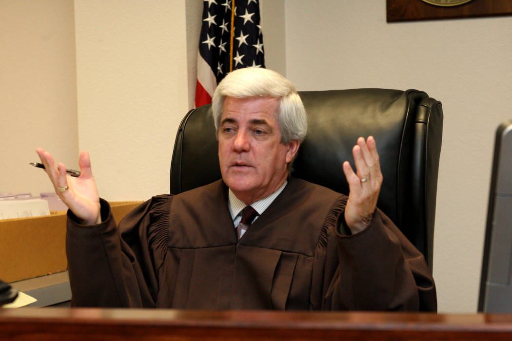 Family Court Judge Frank Sullivan presides over his courtroom on May 7, 2015, in Las Vegas. (RJ ...
