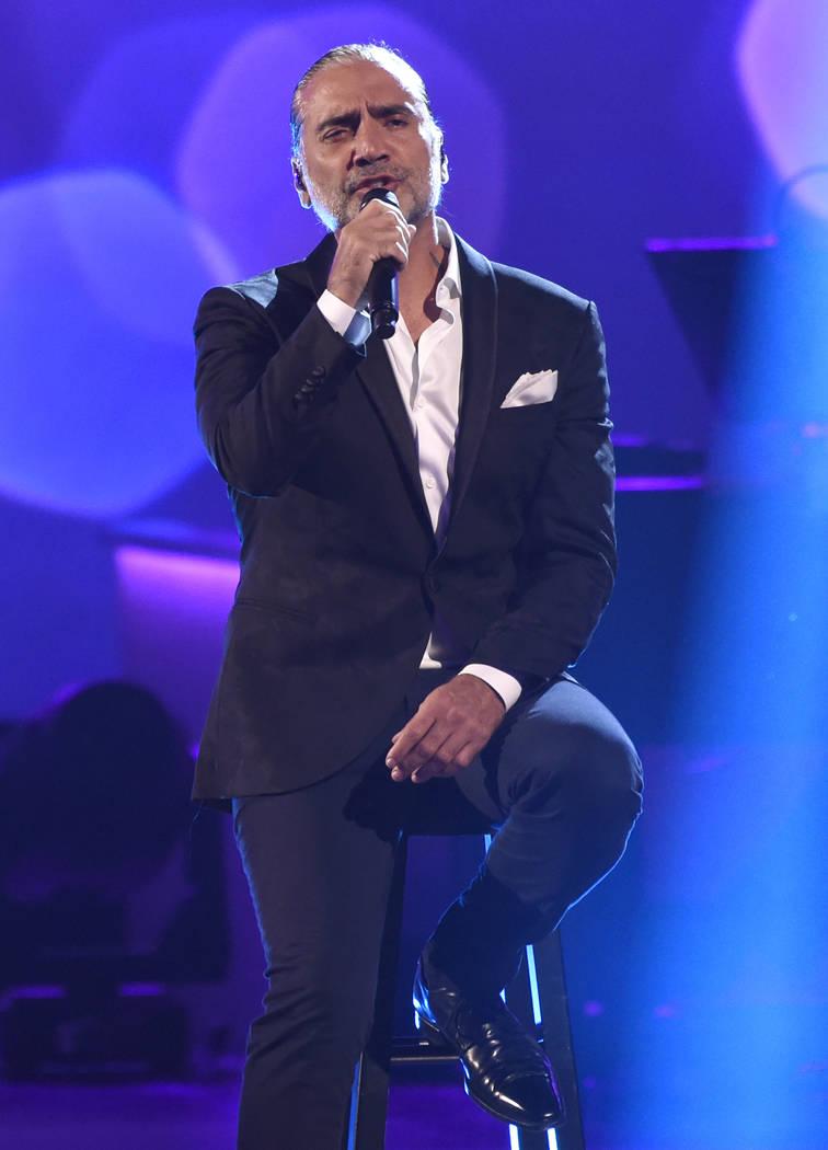 """Alejandro Fernandez performs """"Y Si Fuera Ella"""" at the Latin Recording Academy Person ..."""
