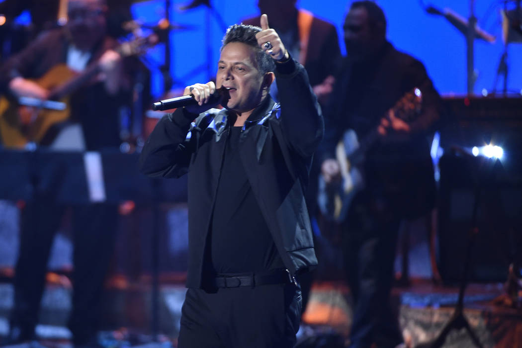Person of the year honoree Alejandro Sanz performs at the 18th annual Latin Grammy Awards at th ...