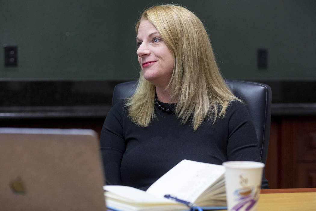 UNLV professor Rebecca Gill, project director for the Las Vegas Review-Journal's 2019 Judicial ...