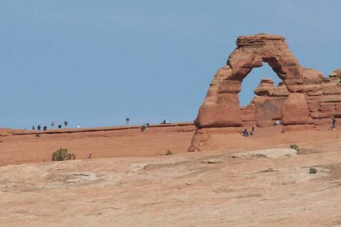 Delicate Arch is one of the most photographed arches in the world. (Deborah Wall/Las Vegas Revi ...