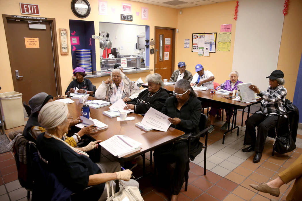 "Seniors attend ""Chronic Pain Self-Management"" class at Martin Luther King Jr. Senior ..."