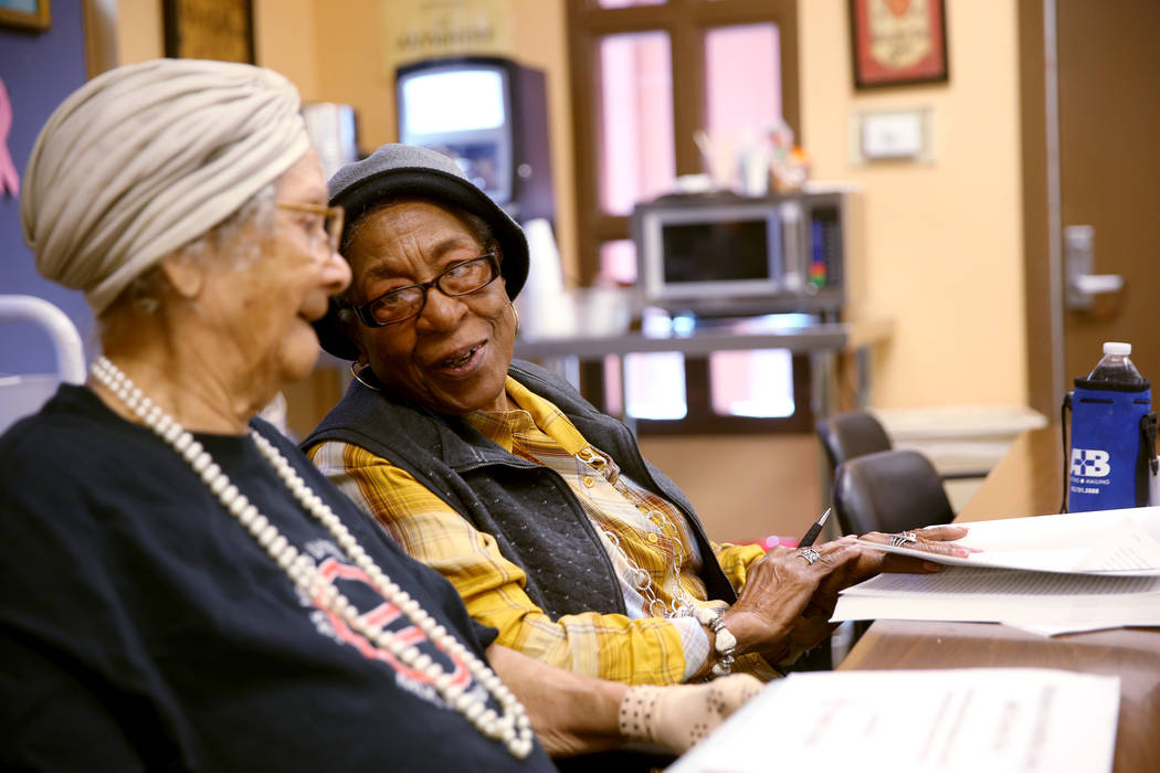 """Marcy Lockhart, 92, left, and Virginia Miller, 93, attend """"Chronic Pain Self-Management&qu ..."""