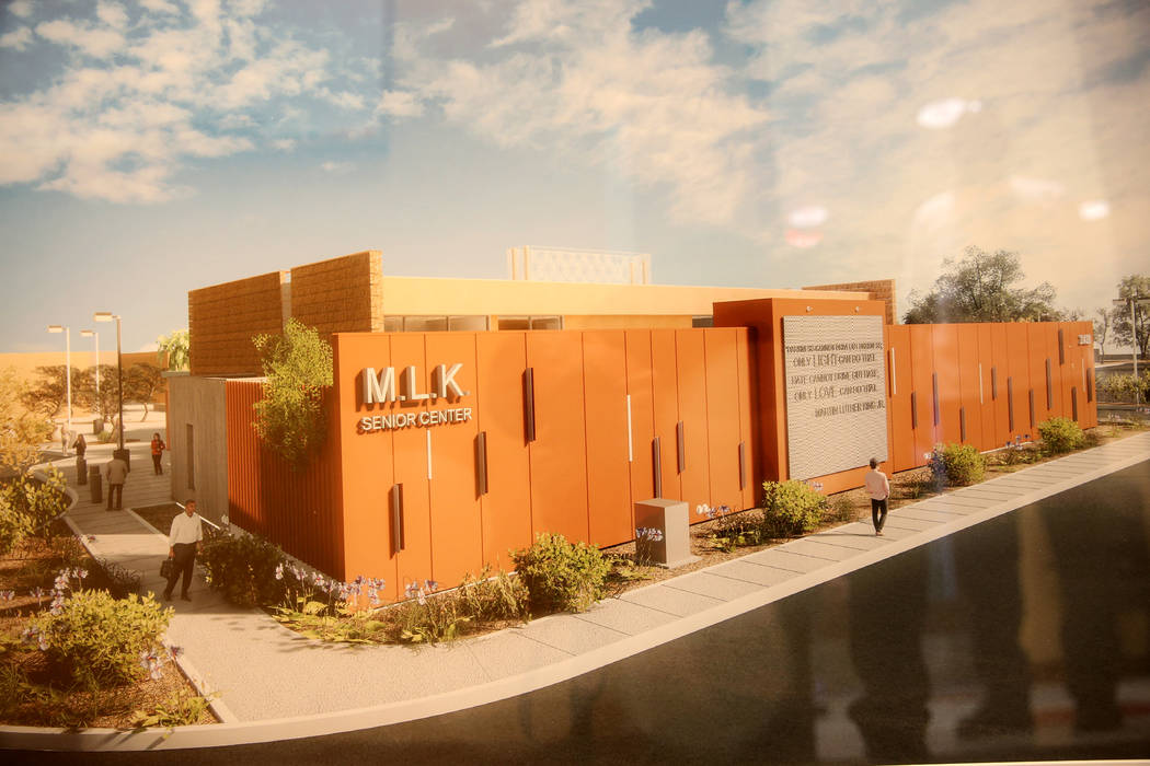 A rendering of the upcoming expansion at Martin Luther King Jr. Senior Center in North Las Vega ...