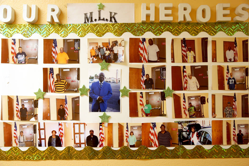 Photos of members at Martin Luther King Jr. Senior Center in North Las Vegas Wednesday, Oct. 30 ...