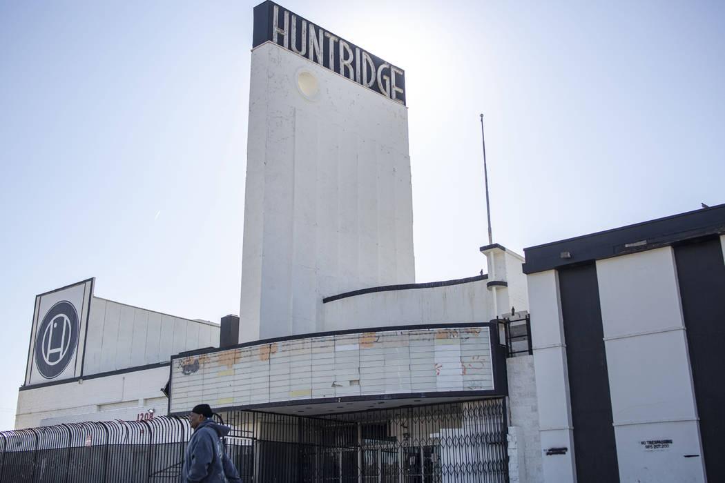 The historic Huntridge Theater photographed on Thursday, Oct. 31, 2019, in Las Vegas. (Elizabet ...