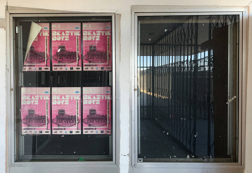 Beastie Boys posters promoting a June 2004 concert hang outside the historic Huntridge Theater ...