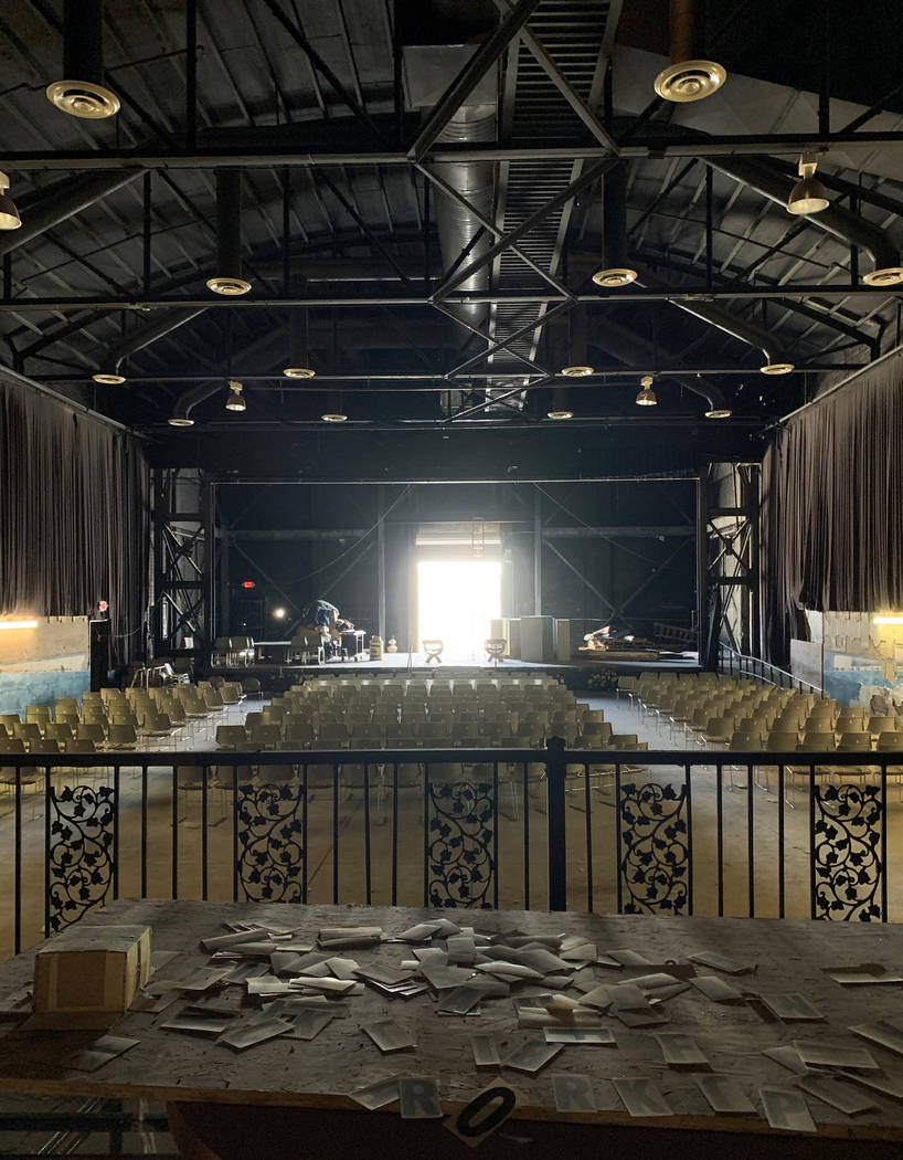 A view towards the stage at the historic Huntridge Theater on Thursday, Oct. 31, 2019, in Las V ...