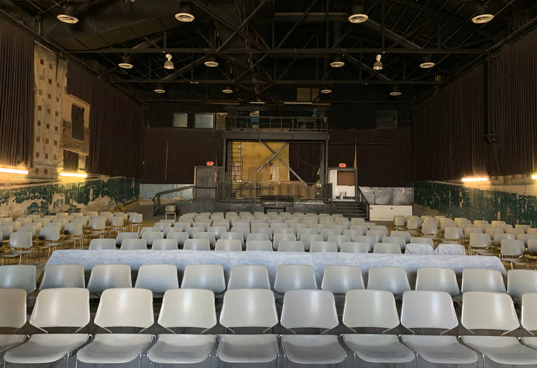The historic Huntridge Theater photographed on Thursday, Oct. 31, 2019, in Las Vegas. (David Gu ...