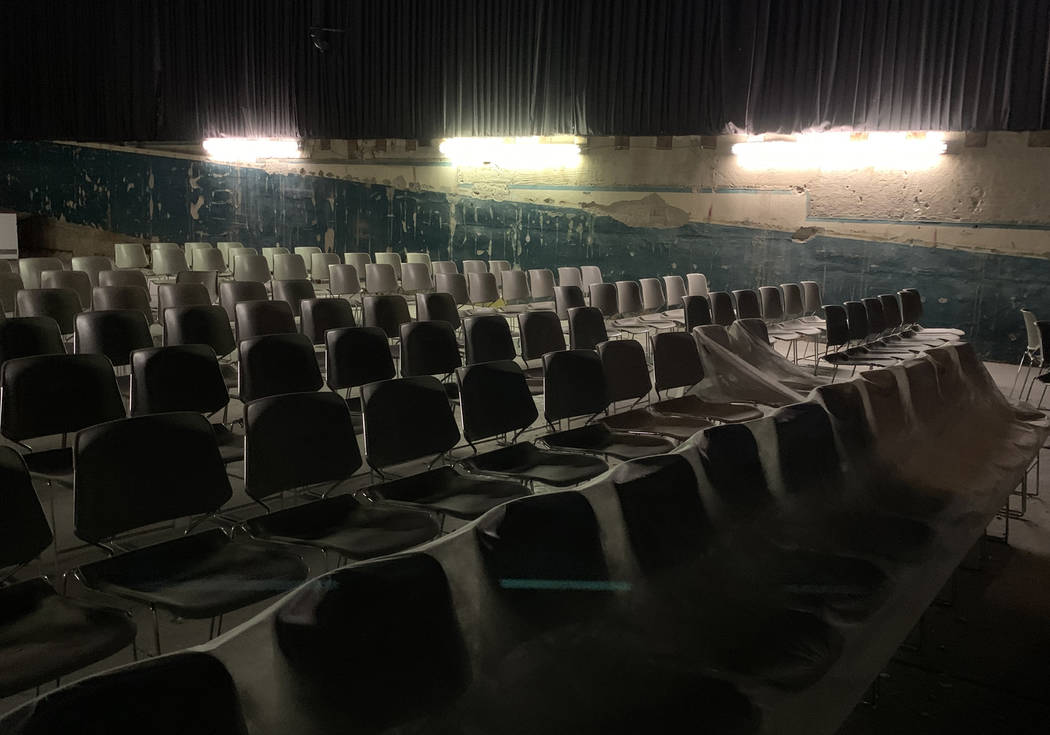 The seating area inside the historic Huntridge Theater photographed on Thursday, Oct. 31, 2019, ...