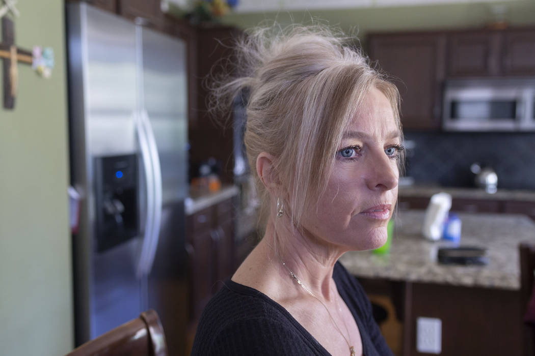 Katherine Hall, mother of Nathan Harrington who is 19-years-old and treated for a mysterious lu ...