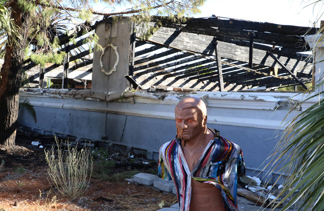 Two people were displaced after a fire caused heavy damage to a home near downtown at 1403 Sout ...