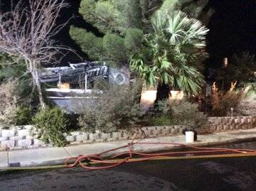 The cause of a two-alarm fire is under investigation not far from downtown Las Vegas. The fire ...