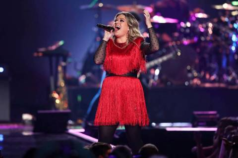 Kelly Clarkson performs at the 2018 iHeartRadio Music Festival Day 2 at T-Mobile Arena in Las V ...