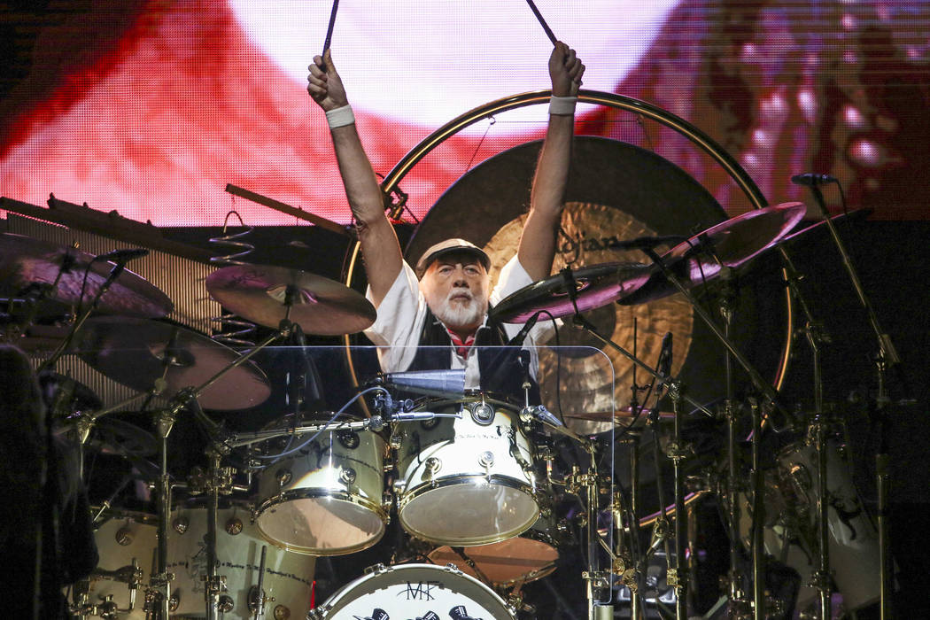 Mick Fleetwood with Fleetwood Mac performs at State Farm Arena on Sunday, March 3, 2019, in Atl ...