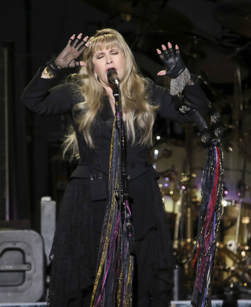 Stevie Nicks with Fleetwood Mac performs at State Farm Arena on Sunday, March 3, 2019, in Atlan ...