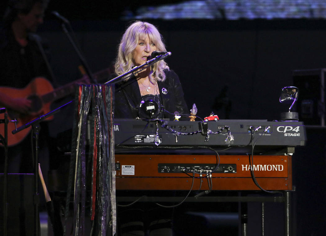 Christine McVie with Fleetwood Mac performs at State Farm Arena on Sunday, March 3, 2019, in At ...