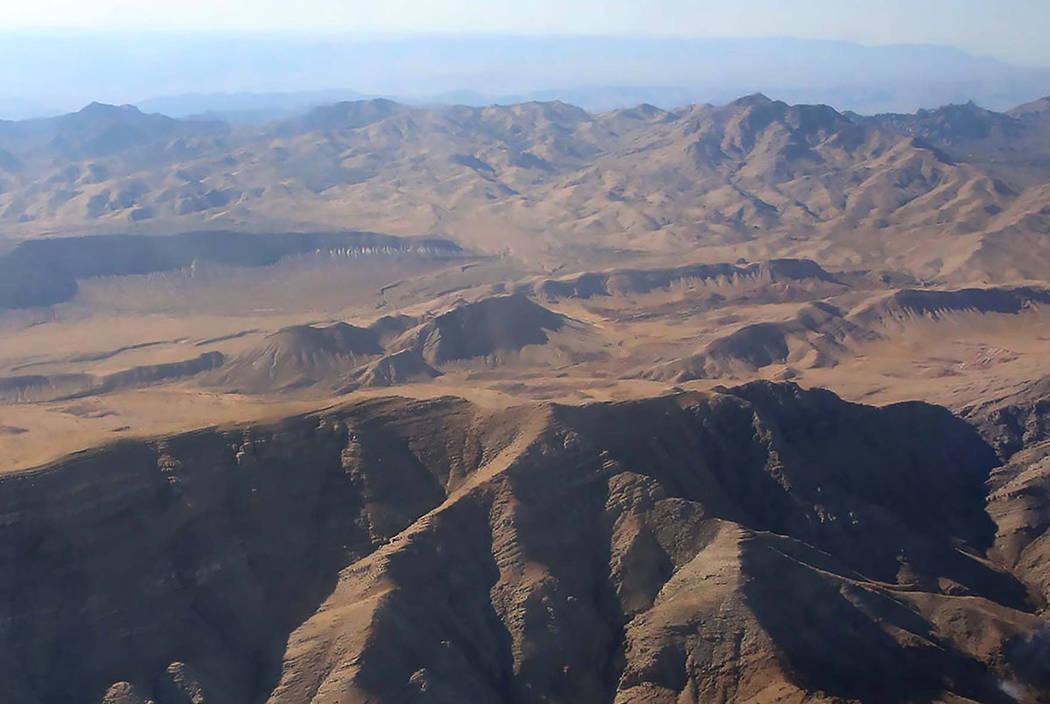 Mountains near Mesquite, Nevada. (Las Vegas Review-Journal)
