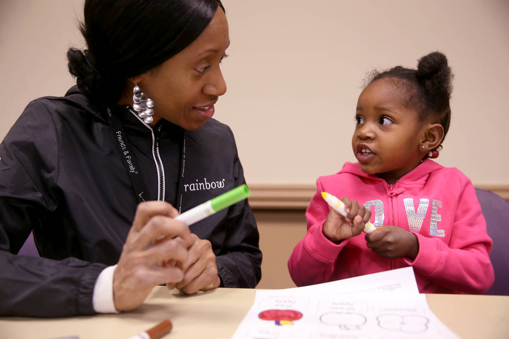 """Sakiyna Fladger and her daughter Serenity Carr, 3, during a """"Fun to Play"""" session at ..."""