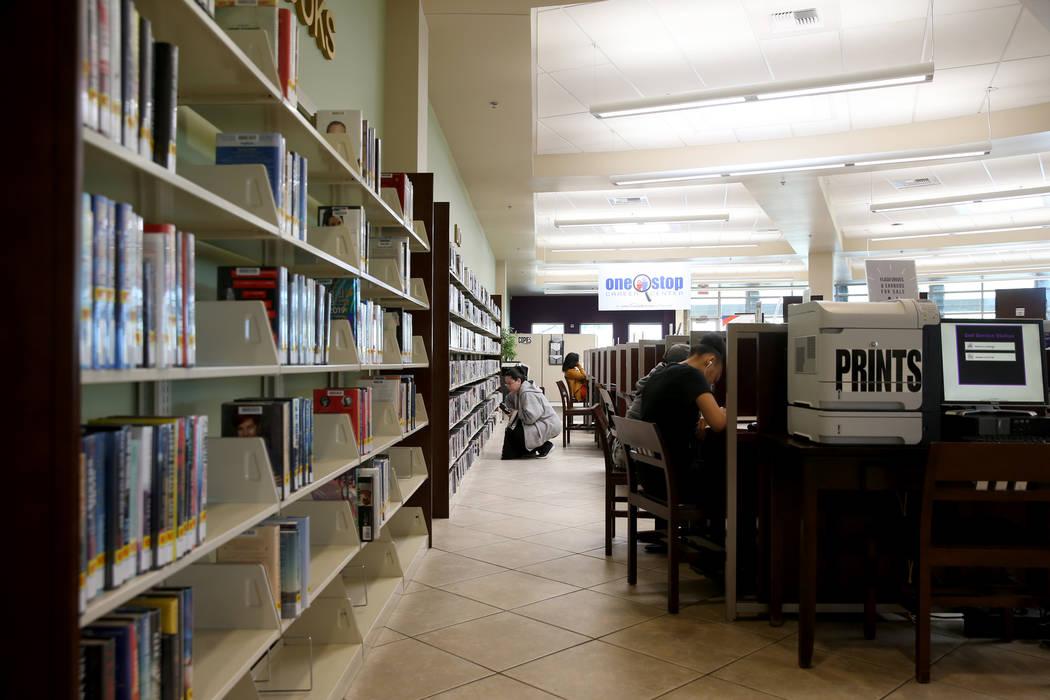 Alexander Library in North Las Vegas Friday, Nov. 1, 2019. (K.M. Cannon/Las Vegas Review-Journa ...