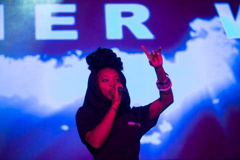 Summer Walker performs on the Roll the Dice stage during the Day N Vegas music festival on Frid ...