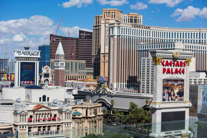 This Oct. 4, 2018, file photo shows casino hotels on the Strip in Las Vegas. Richard Brian Las ...