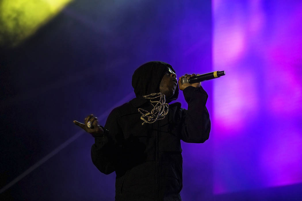 Lil Uzi Vert performs on the Roll the Dice stage during the Day N Vegas music festival on Frida ...