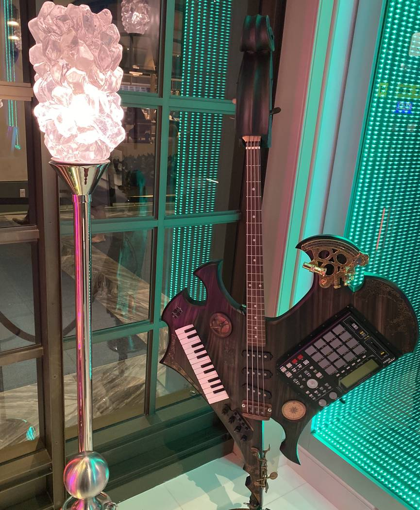 """The customized key-tar from Lady Gaga's 2011 """"Monster Ball"""" tour is shown on display at Hau ..."""