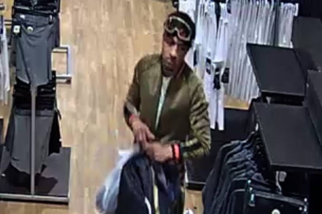 Las Vegas police released this photo from a video surveillance camera inside a business near th ...