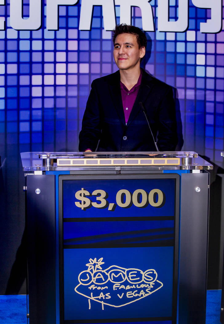 """Jeopardy!"" champion James Holzhauer plays a few rounds for fun with IGT executives a ..."