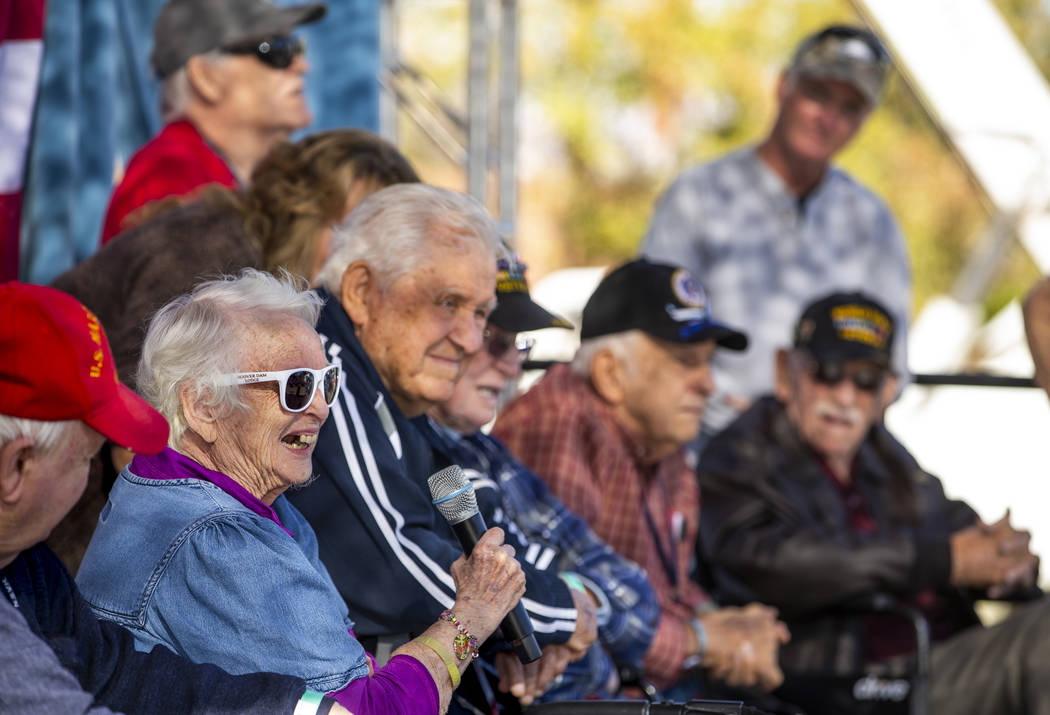 Veteran Vonda Perrino recalls a few memories of her time in the service joined by other WWII an ...