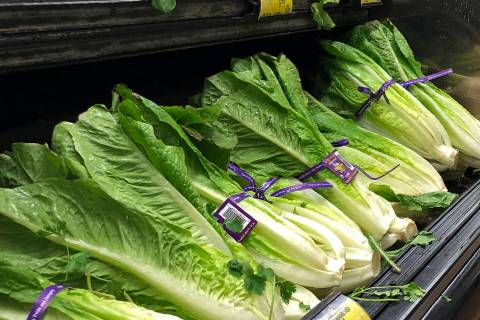 FILE - This Nov. 20, 2018 file photo shows Romaine Lettuce in Simi Valley, Calif. Health offic ...