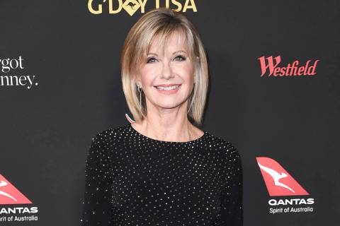 FILE - In this Jan. 27, 2018 file photo, Olivia Newton-John attends the 2018 G'Day USA Los Ange ...