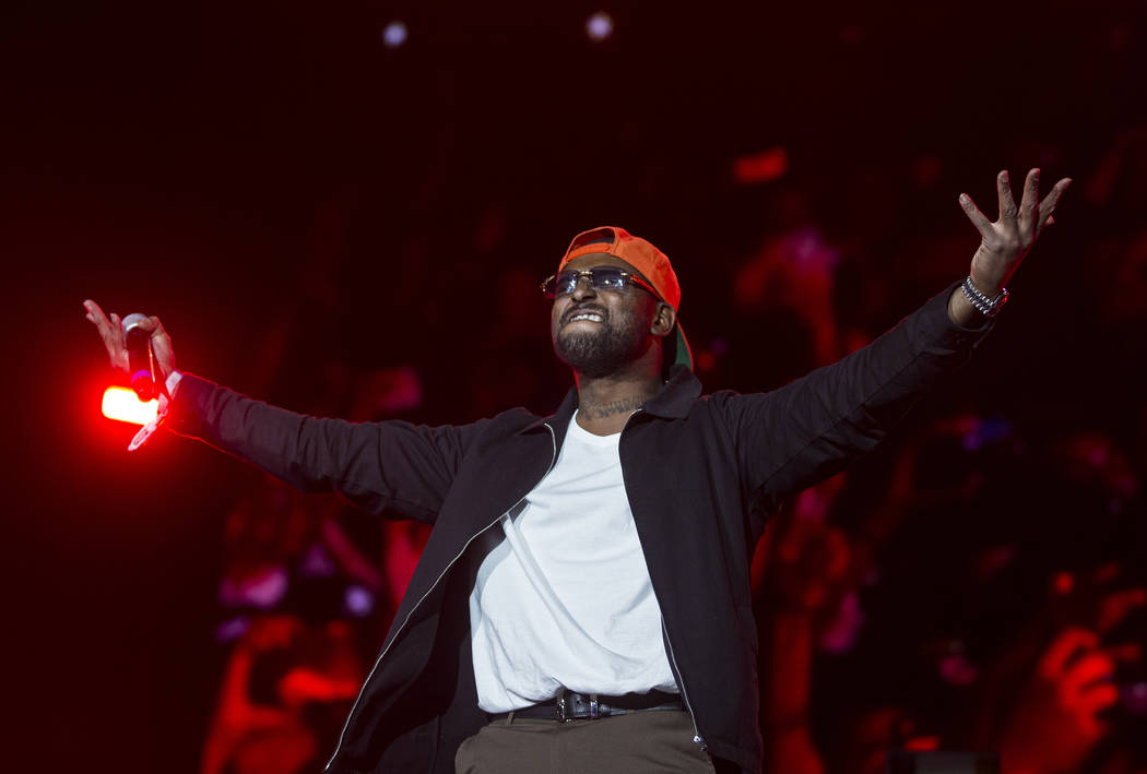 Schoolboy Q performs on the Jackpot stage during Day N Vegas music festival on Sunday, Nov. 3, ...