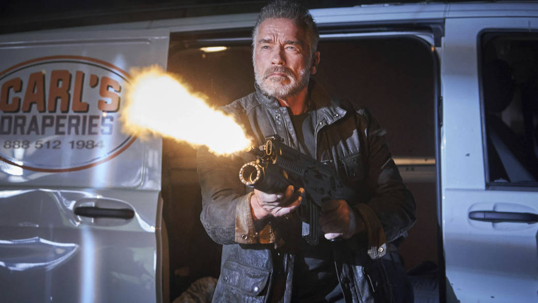 """This image released by Paramount Pictures shows Arnold Schwarzenegger in """"Terminator: Dark ..."""