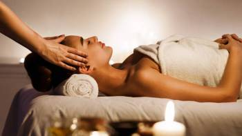 """Some of my clients get two to three massages per month,"" said Delano Saporu, founder and f ..."