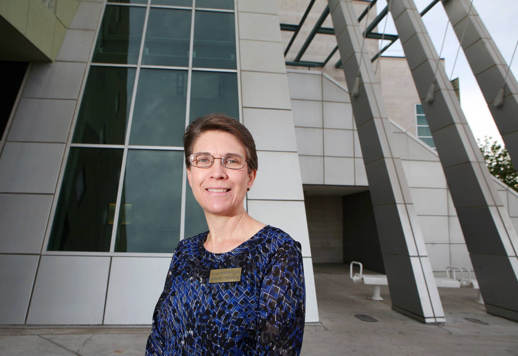 Sondra Cosgrove, president of League of Women Voters of Las Vegas Valley and history professor ...