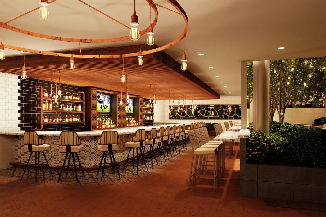 Ellis Island rendering Beer garden first floor bar. (Ellis Island)