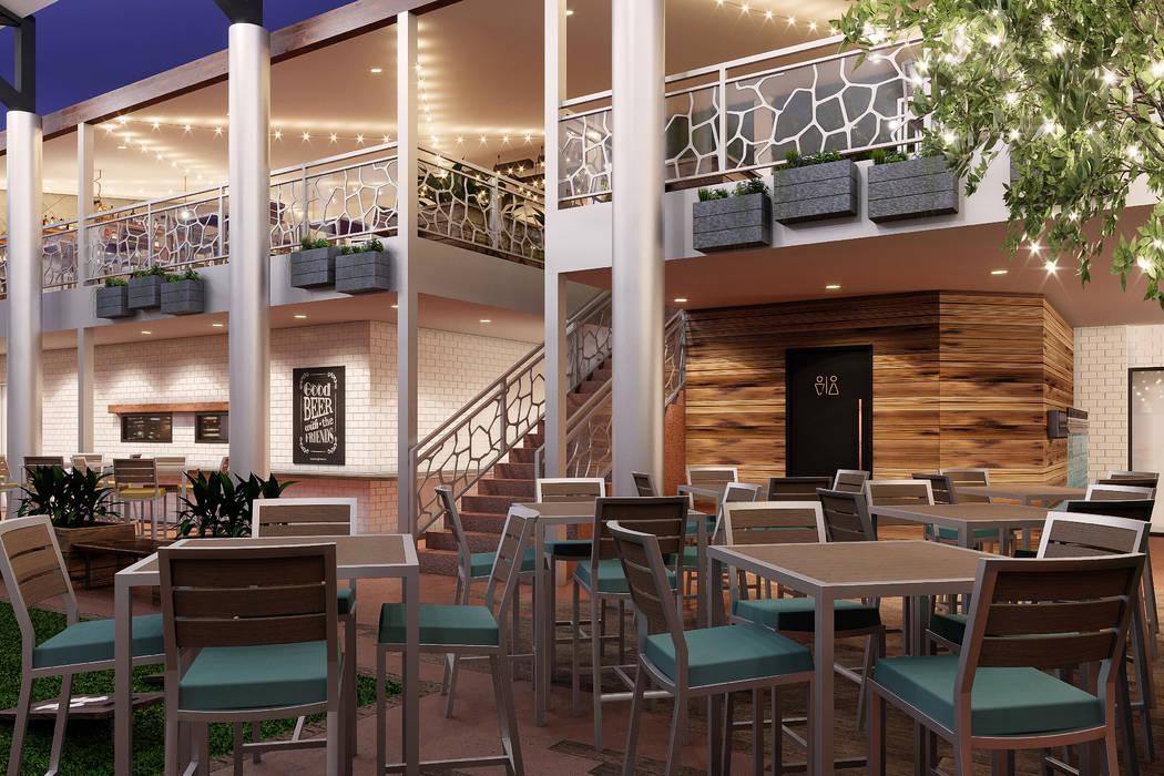 Ellis Island rendering Beer garden first floor. (Ellis Island)
