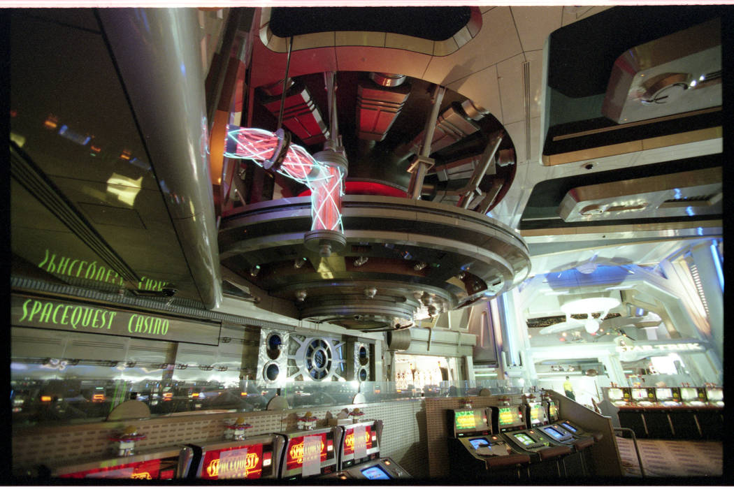 """The SpaceqQuest Casino, pictured a few months before its opening, was located adjacent to """"Star ..."""