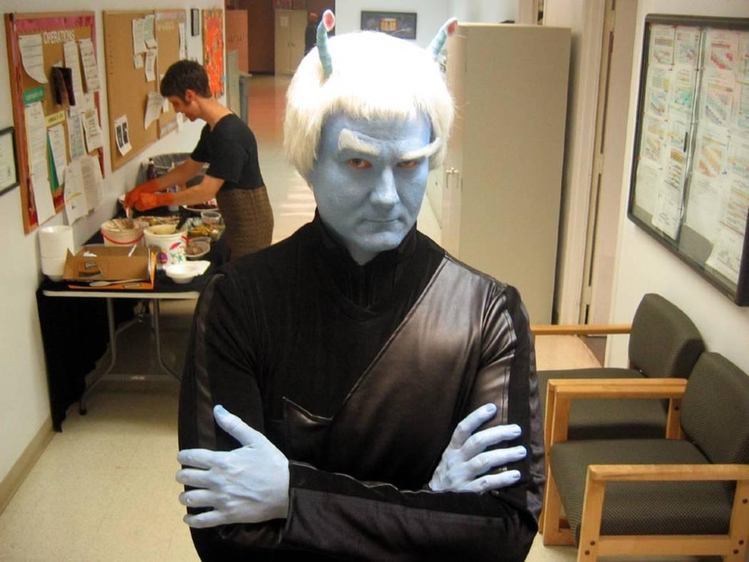 """Star Trek: The Experience"" crew member Kerstan Szsepanski as K'Stran. (Review-Journal file photo)"