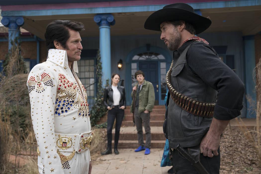 Tallahassee (Woody Harrelson), Wichita (Emma Stone), Columbus (Jesse Eisenberg) and Albuquerque ...