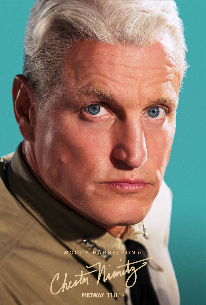 "Woody Harrelson stars as Adm. Chester Nimitz in ""Midway"" (Lionsgate)"