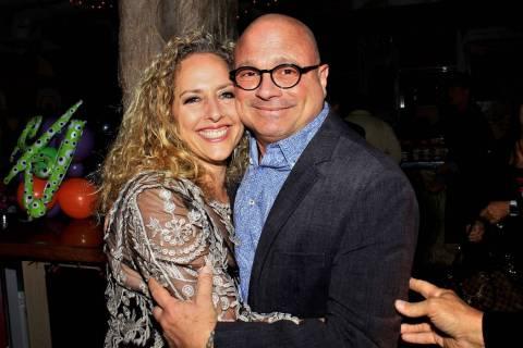 Las Vegas comic impressionist John Di Domenico and Michele Rothstein are shown at Di Domenico's ...