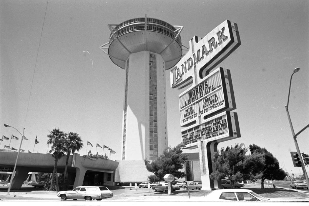 This 1980's file photo shows the exterior of the Landmark hotel-casino in las Vegas. (Las Vegas ...