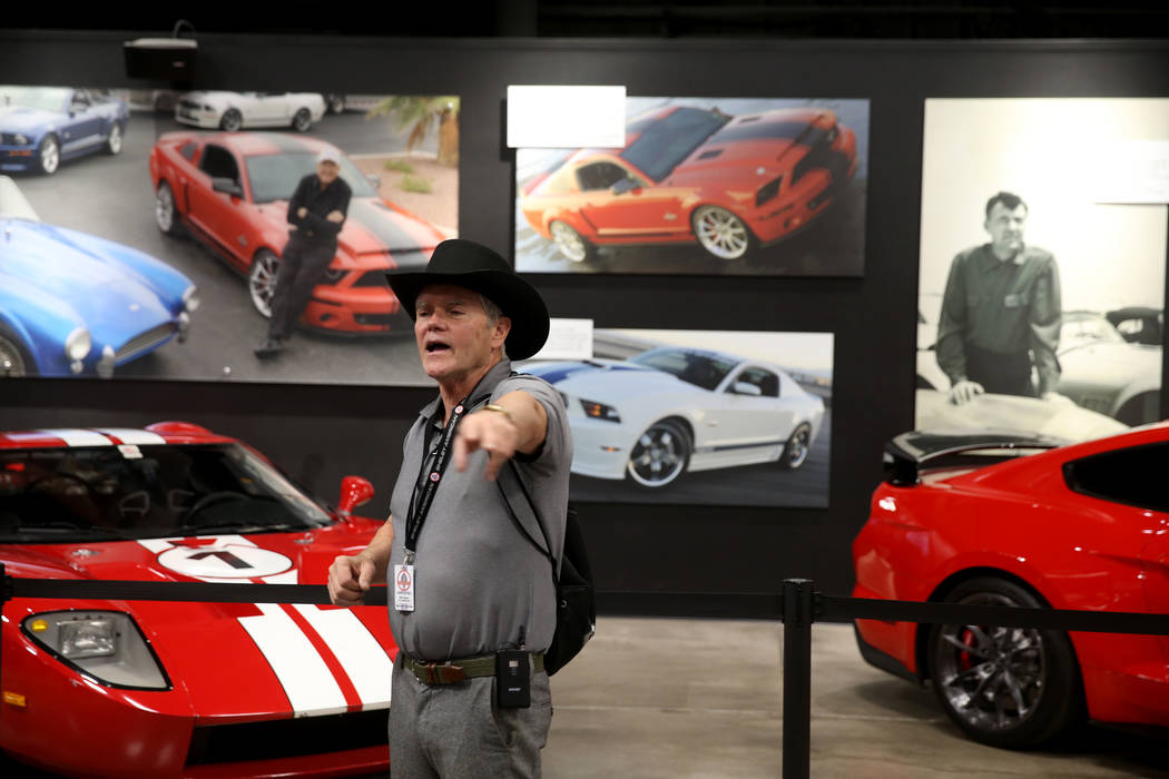 Guide Mike Dempsey gives a tour of the Shelby Heritage Center in Las Vegas Thursday, Oct. 31, 2 ...