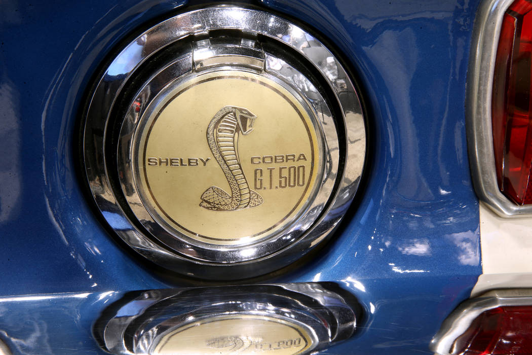 The gas cap of Carroll Shelby's original 1967 Super Snake GT500 equipped with a Ford 427 racing ...