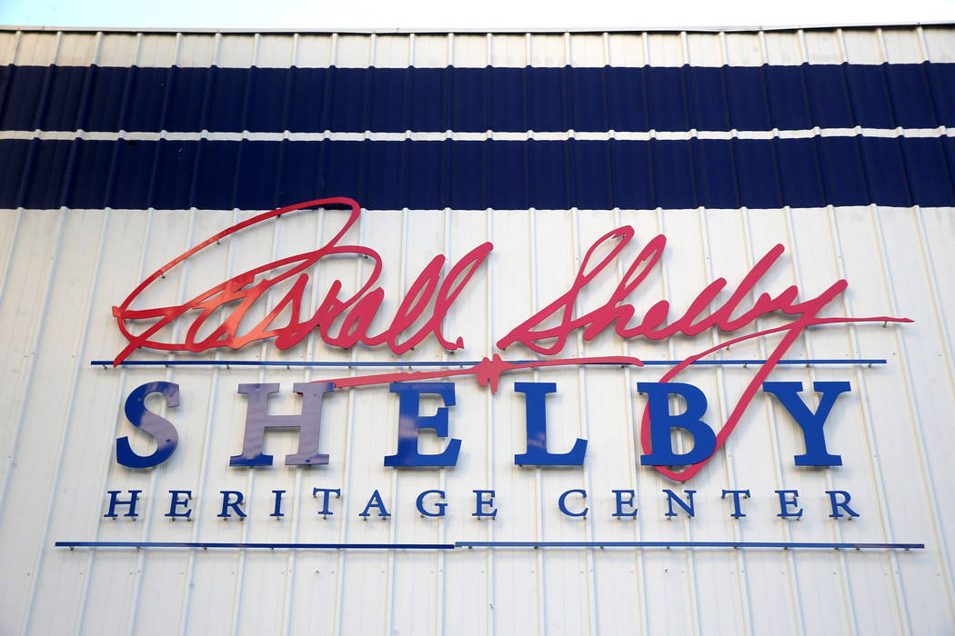 The Shelby Heritage Center in Las Vegas Thursday, Oct. 31, 2019. Car racing and car making lege ...