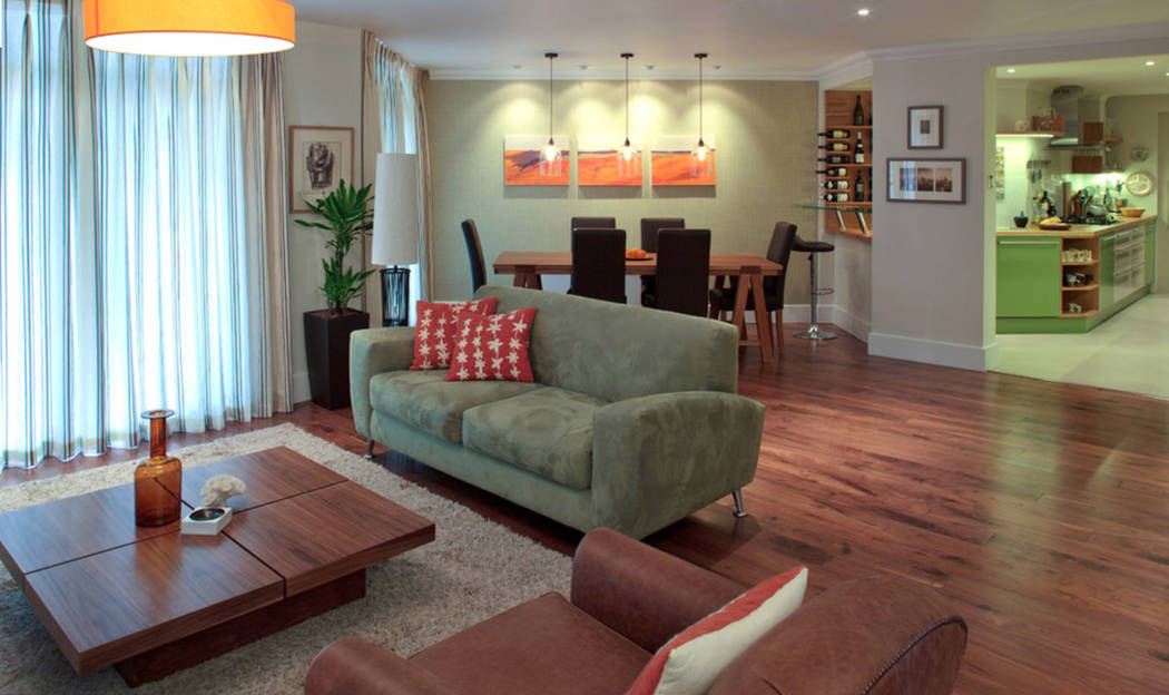 This great layout of furnishings and accessories provides wonderful living space. (Houzz)